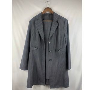 Vintage Grey Pinstripe Dress Set